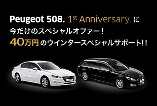 【インターネット限定企画】PEUGEOT SELECTION 508 Winter Special Campaign