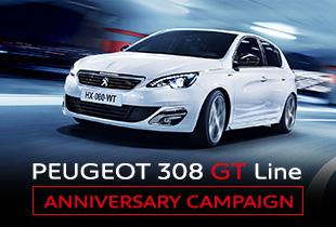 PEUGEOT 308 GT Line ANNIVERSARY CAMPAIGN >>11.27 SUN