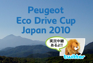 Peugeot Eco Drive Cup Japan 2010 優勝チームを当てて、プレゼントをGETしよう!